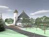 Kostel v Dolní Lhotě - úprava okolí
