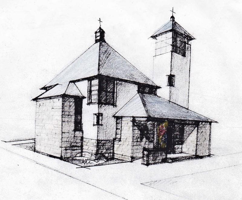 Kostel Panny Marie Karmelské a pastorační centrum v Dolní Lhotě